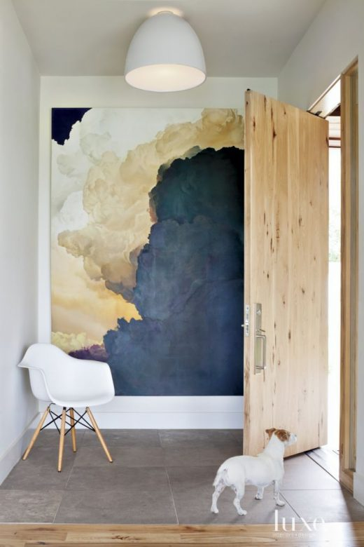 35 Foyers with Statement Art Pieces