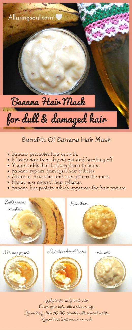 DIY Effective Banana Hair Mask For Damaged Hair