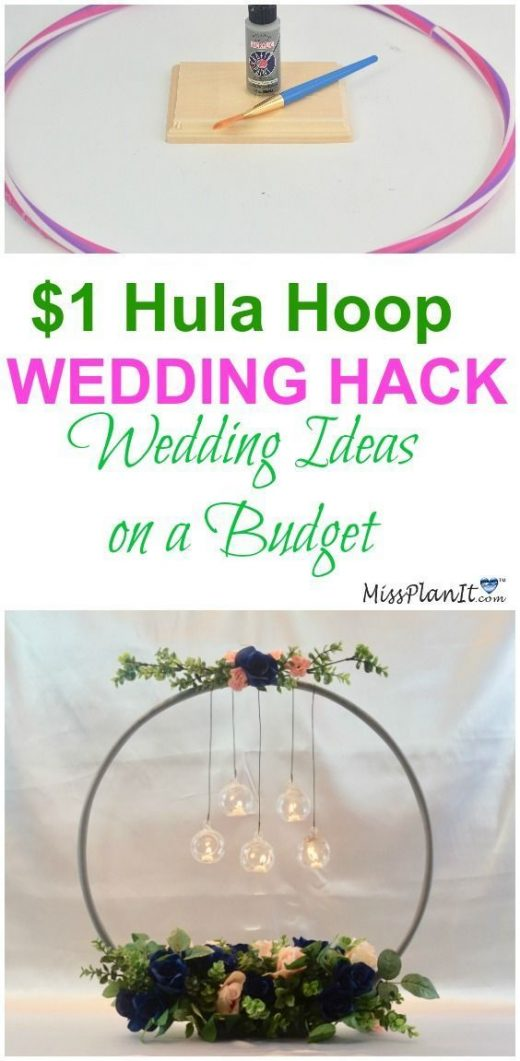 $1 Hula Hoop Wedding Hack: How to Make a Chandelier Wedding Centerpiece