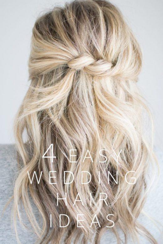 4 Easy Wedding Hair Ideas