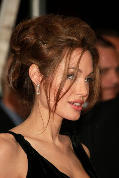 Angelina Jolie Bobby Pinned Updo