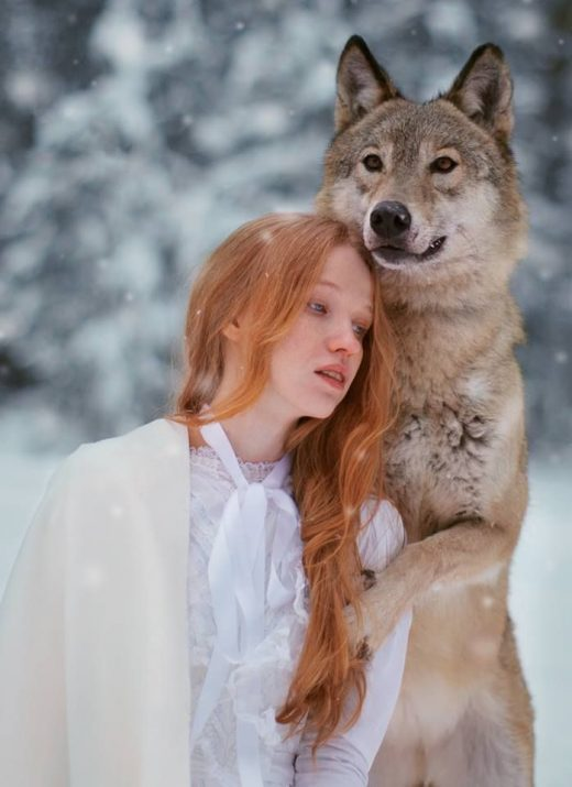 Dreamy Portraits of Women of all ages Residing in Harmony with Wild Animals