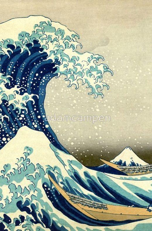 Famous Wave   Graphic T-Shirt Dress