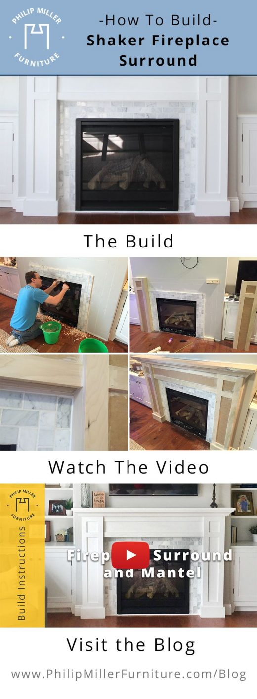 How to Build a Shaker Fireplace Mantel and Surround – Woodworking