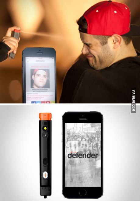 Pepper spray that takes a picture of the person you spray…