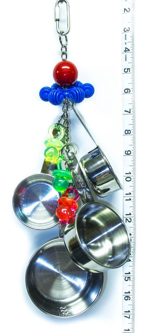 Shake, Rattle and Roll – Totally Stainless Steel Collection – Parrot Toys and Bird Toy Parts by A Bird Toy