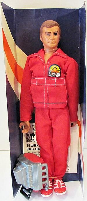 The Six Million Dollar Man – Toy Doll With Engine Block And Red NASA Suit