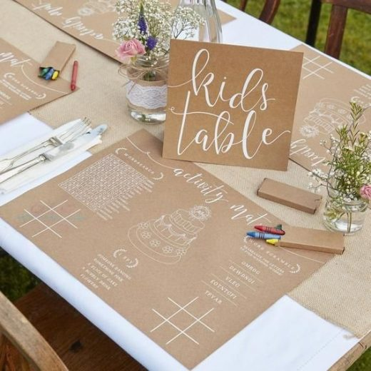 Wedding kids Activity Kit// Rustic Country// Wedding party// Kids activity pack// Activity mat// Wedding ideas// Kids Table// Tableware