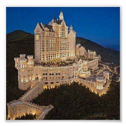 castle hotel poster | Zazzle.com