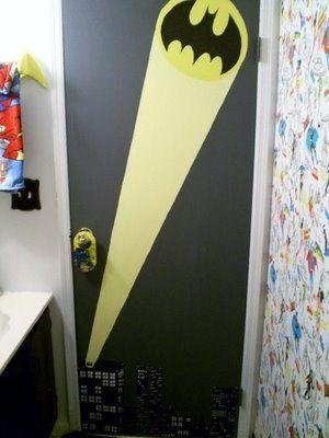 diggin the bat signal on the door  BAT – BLOG : BATMAN TOYS and COLLECTIBLES: THE BATMAN BATHROOM Wacky Home Improvement