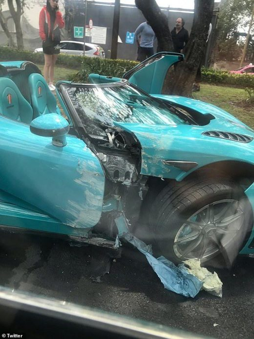 $1.5m supercar built for Qatari royal family is wrecked