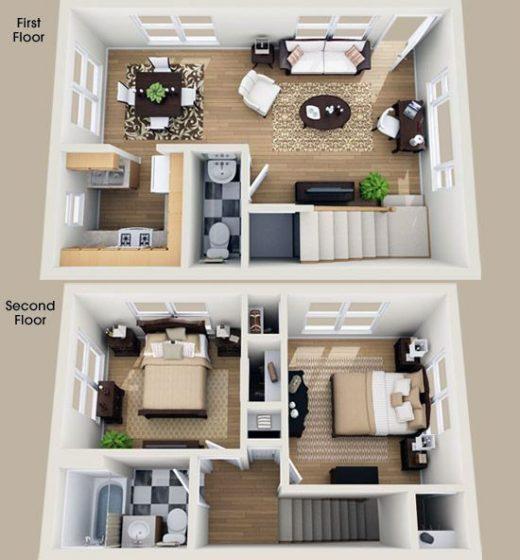 10 Dream House Design-Pläne einschließlich der besten Dekorationsideen Gratis