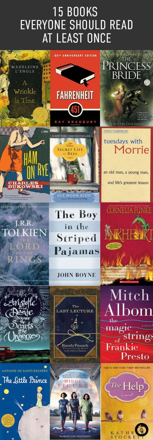 15 Books Everyone Should Read At Least Once