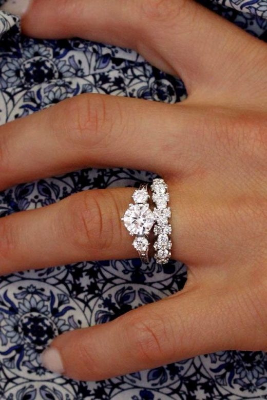 18 Excellent Wedding day Ring Sets For Attractive Girls ❤️ marriage ceremony ring sets thre