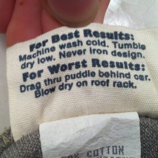 18 Hilarious Clothing Tags That Will Make You Wonder What The Factory Was Thinki…