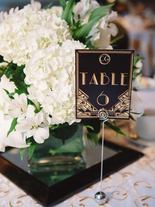 A Great Gatsby-Themed Wedding In Banff