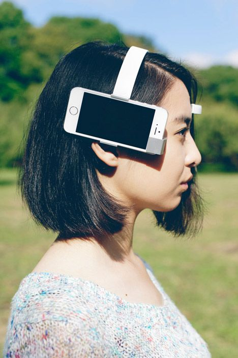A team in Tokyo has created a head-mounted camera that monitors brain waves and …