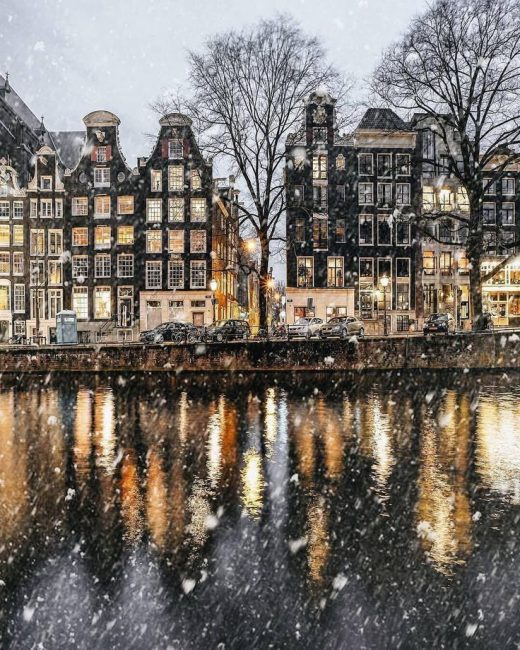 Amsterdam, the netherlands in Winter