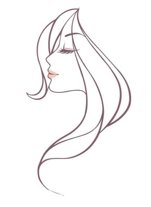 Cost-free Lovely Lady Head Vector Illustration