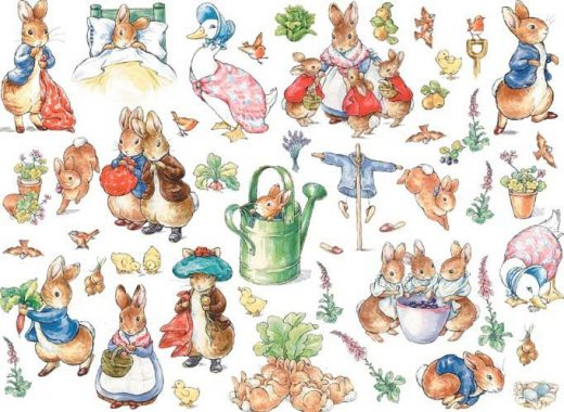 "English Children's Writer and Illustrator Beatrix Potter and ""Peter Rabbit"""