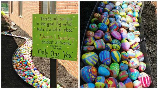 Every Single Student Paints One Rock For The Coolest Elementary Art Project, Ever