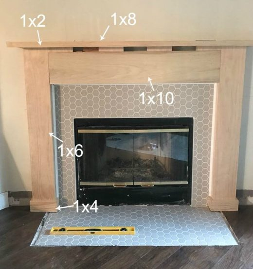 Fireplace Makeover – How to build a Fireplace Mantel and Surround