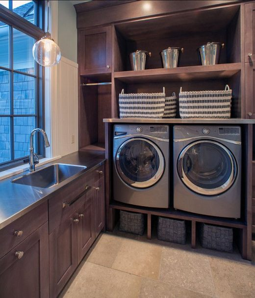 Love the utility sink and laundry room combo.  Look at all that storage space! O…