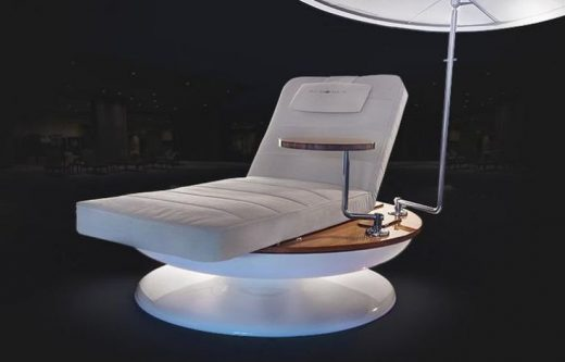 Luxury sun-tracking chair will summon a waiter for you