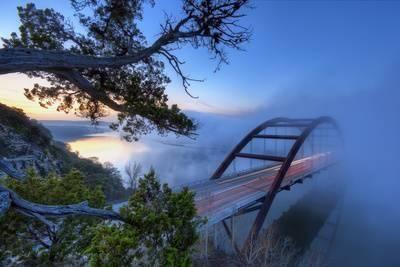 Pennybacker Bridge in Morning FogBy Evan Gearing Photography