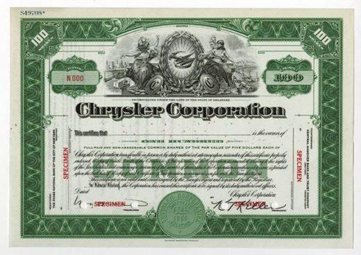 Stock / Share Certificates