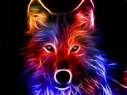 awesome electric wolf
