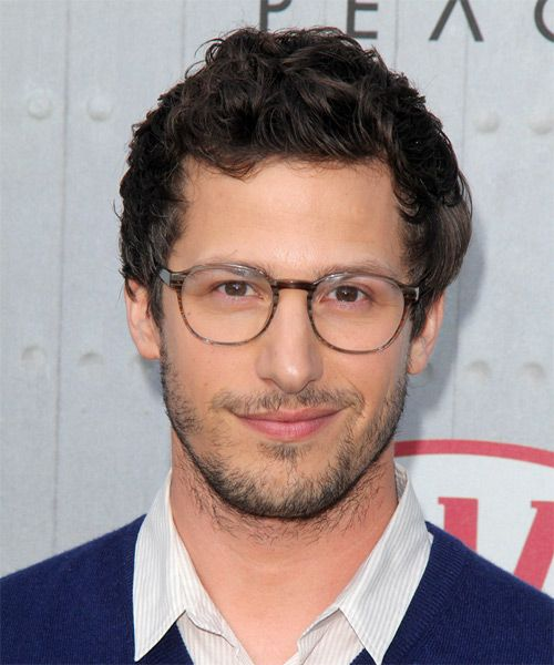 Andy Samberg Short Wavy Casual Hairstyle – Dark Brunette Hair Color