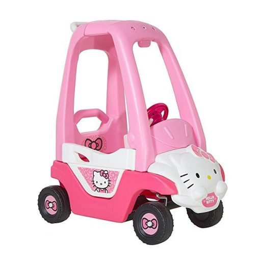 Hello Kitty Push N Play Ride-On, Pink/White/Black