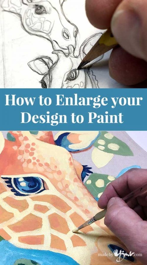 How to Enlarge your Design to Paint – Made By Barb – simple art transfer