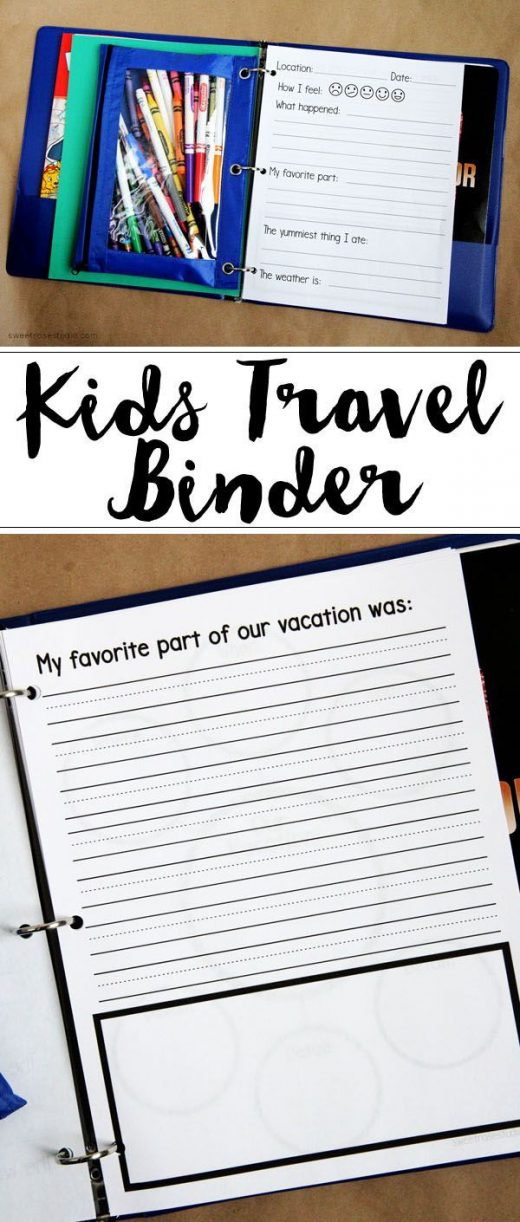 Kids' Travel Binder