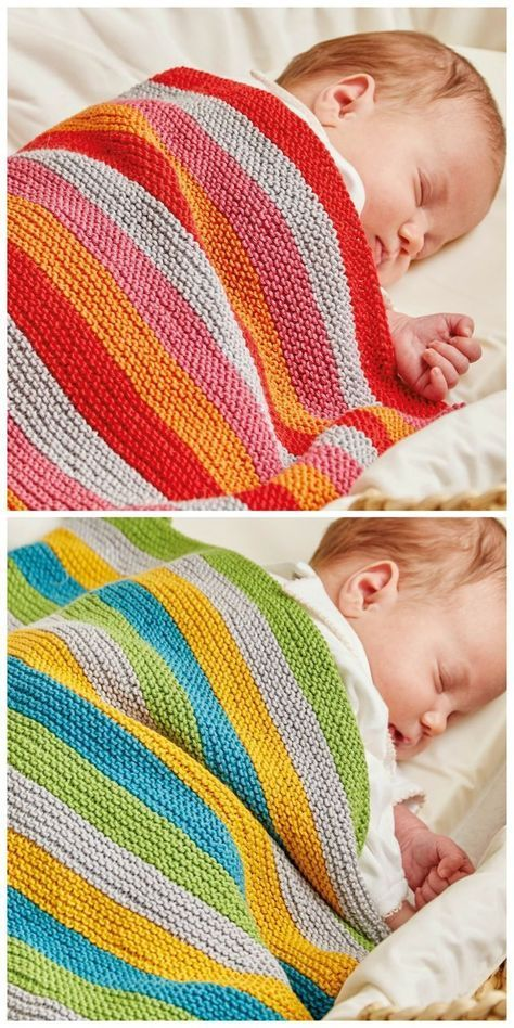 Knitted Nursery Collection: Ollie and Polly Blankets