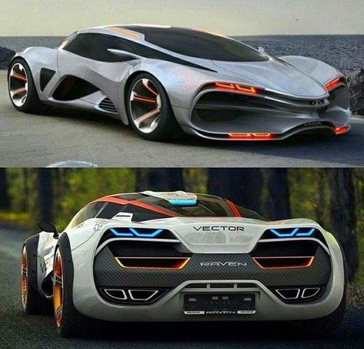 Lada Vector R1 Raven supercharged widebody