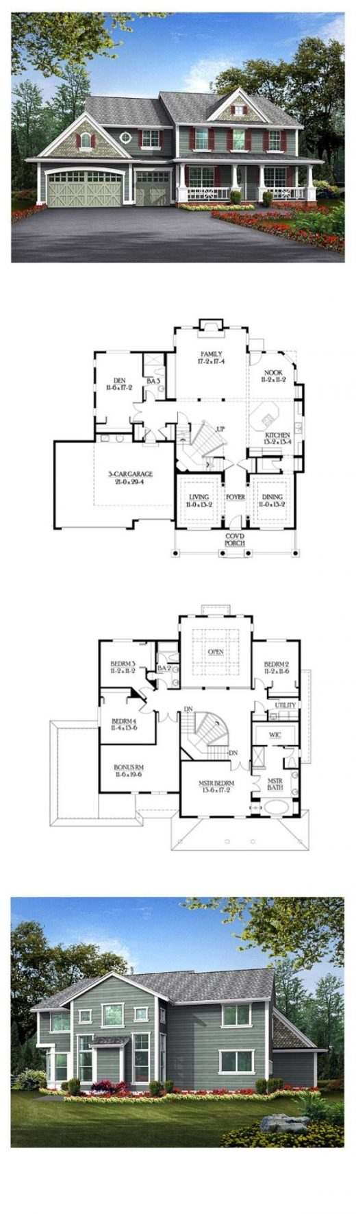 Luxury House Plan 87651 | Total Living Area: 3624 sq. ft., 4 bedrooms & 3 bathro…