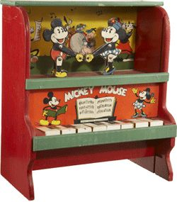 1930s Mickey Mouse Piano by Marks Brothers. Article: Disney's Most Magical Tre…