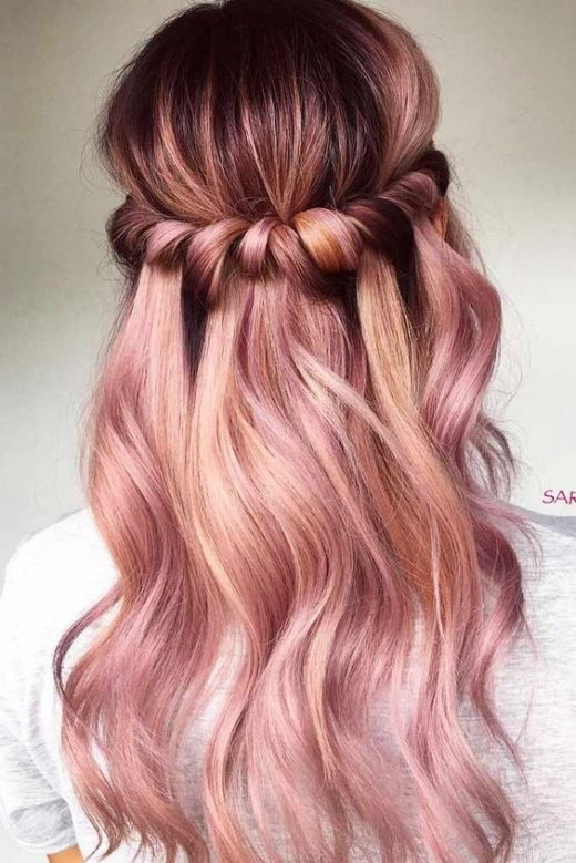 20 Rose Gold Balayage Inspiration for You
