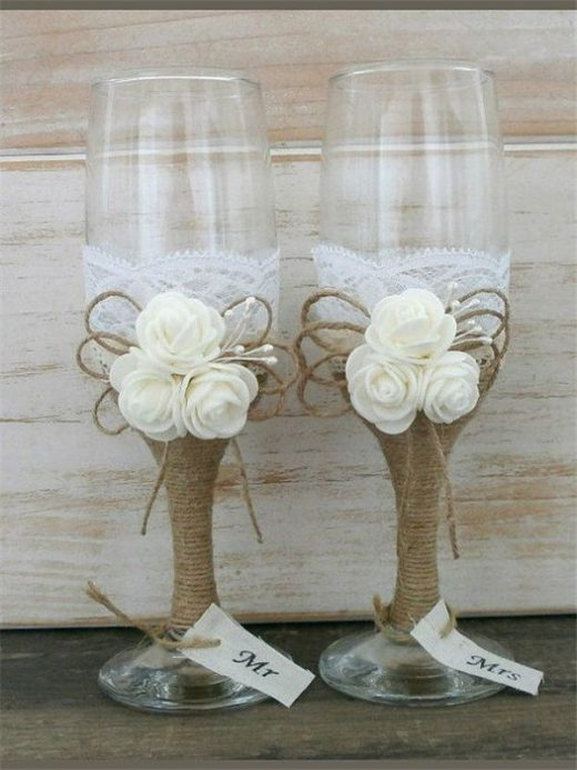 22 Rustic Burlap Lace Wedding Ideas