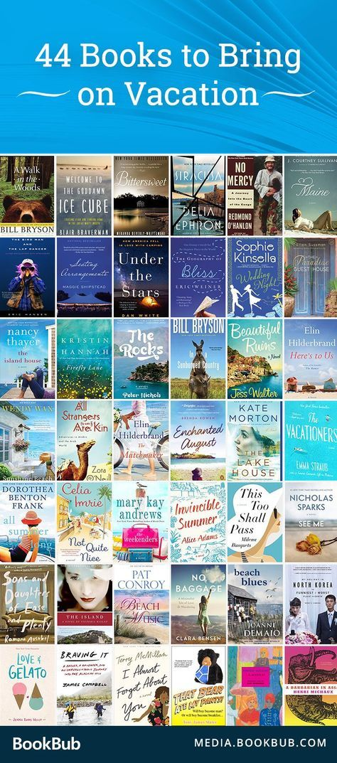 44 Books to Bring on Vacation