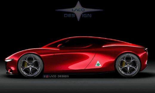 Alfa Romeo 8C: ecco un altro render che ipotizza la Supercar del Biscione