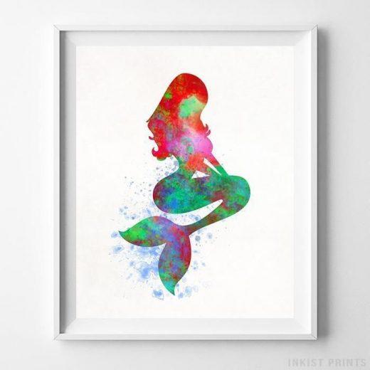 Ariel, The Little Mermaid Type 2 Print
