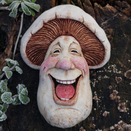 Artie (Artimus Campestris) – Field Mushroom, Fantasy Sculpture Wall Art, Quirky handmade Art piece, Collectable,Decorative Character