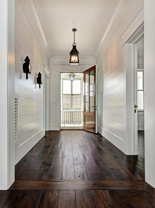 Best Designing a Living Room with Dark Wood Floor
