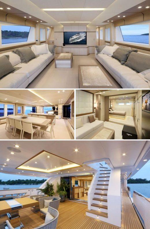 Beyond Comfort: Stunning Interiors in Luxury Yacht – Más allá del confort: imp…