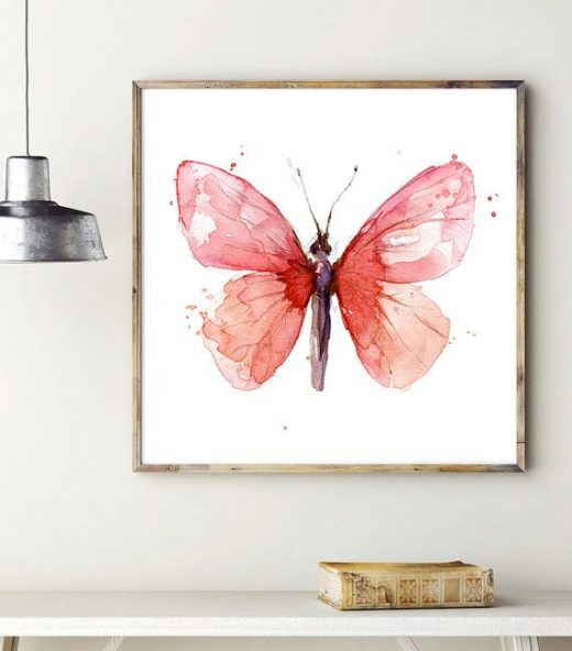 Butterfly Watercolor Painting – Giclee Art print – Animal painting – insect art butterfly art illustration zen watercolor Michelle Dujardin