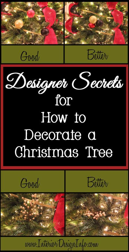 Designer Secrets for How to Decorate a Christmas Tree