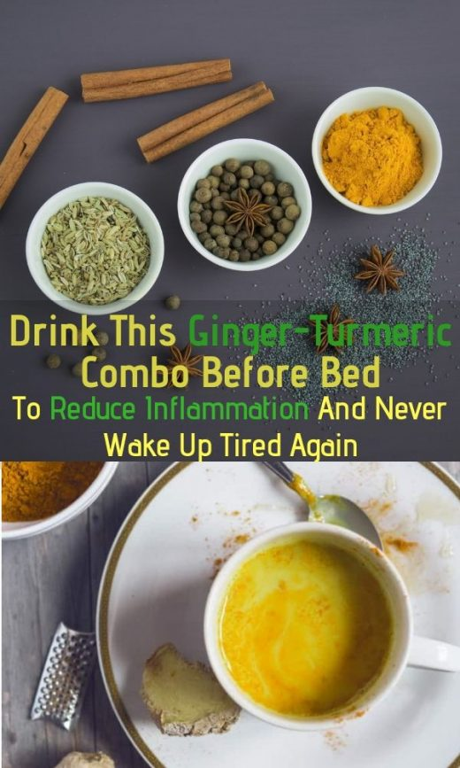 Drink This Ginger-Turmeric Combo Before Bed To Reduce Inflammation And Never Wake Up Tired Again